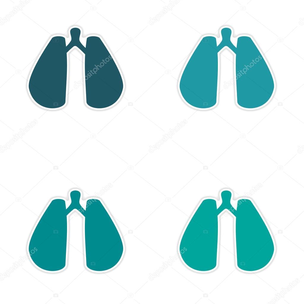 diseño de etiqueta realista montaje en pulmones de papel — Vector de ...