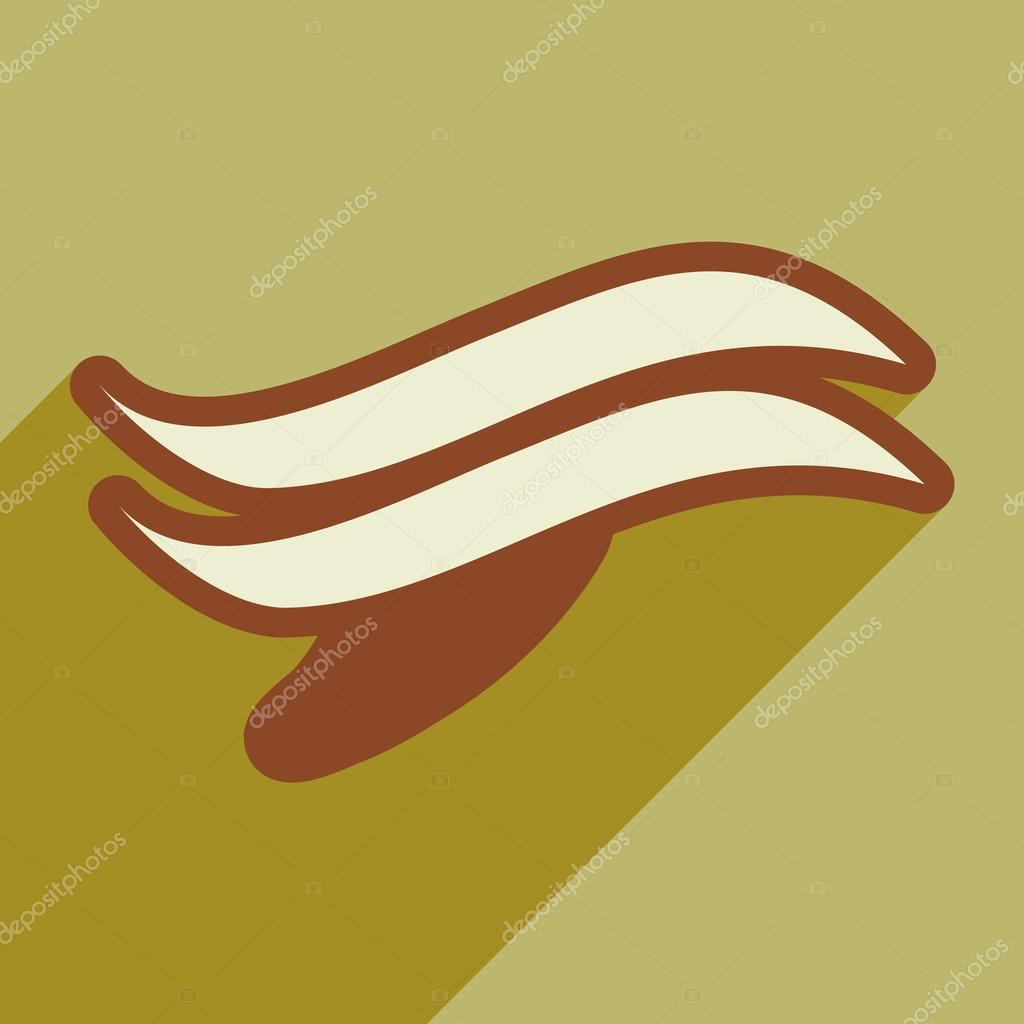 flat icon with long shadow whales logo
