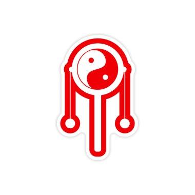Sticker Japanese hand drum