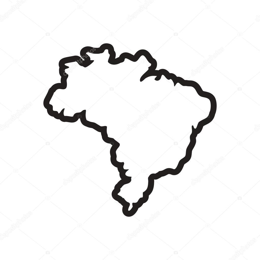 Resultado de imagem para mapa do brasil em preto e branco