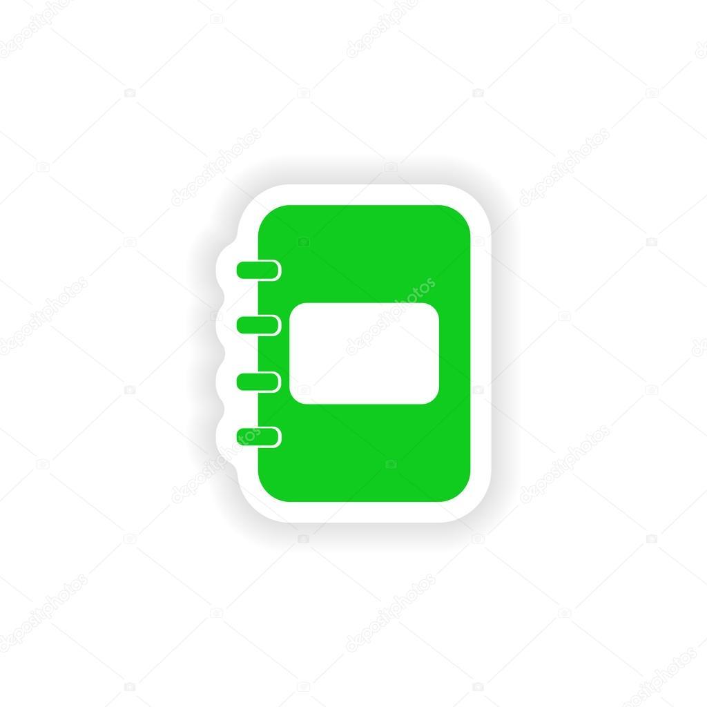 Ikona nálepky realistický design na papírový Poznámkový blok — Stockový  vektor 94534933e1
