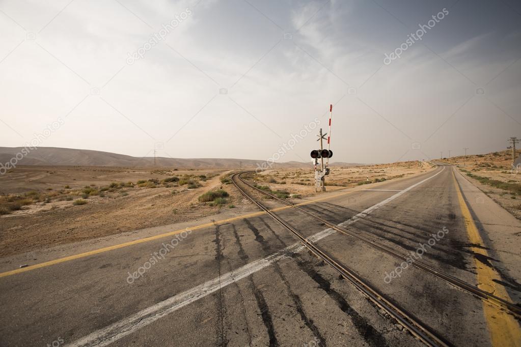 Road crossing rail