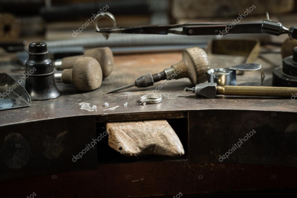 Working table with tools stock photo forkjemper 70562157 for Table utensils