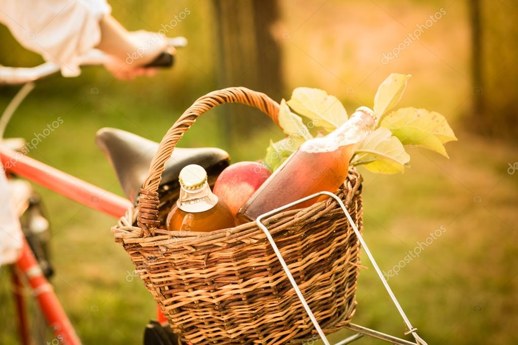 basket with fresh food