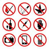 Fotografie vector prohibiting signs
