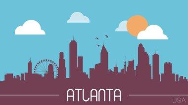 Atlanta skyline silhouette vector illustration