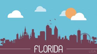 Florida skyline silhouette vector illustration