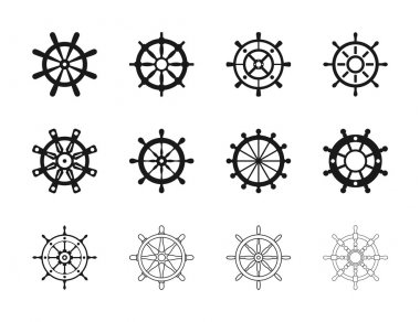 Nautical Ship Wheel Set
