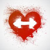 Fotografia Segno del cuore di fitness