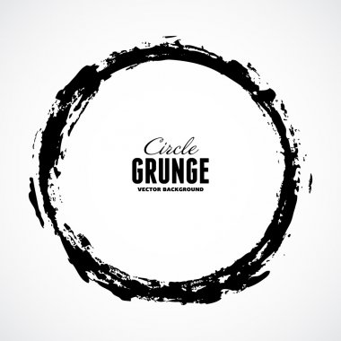 Vector ink grunge circle frame stock vector