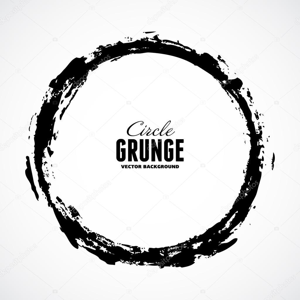 Ink grunge circle frame