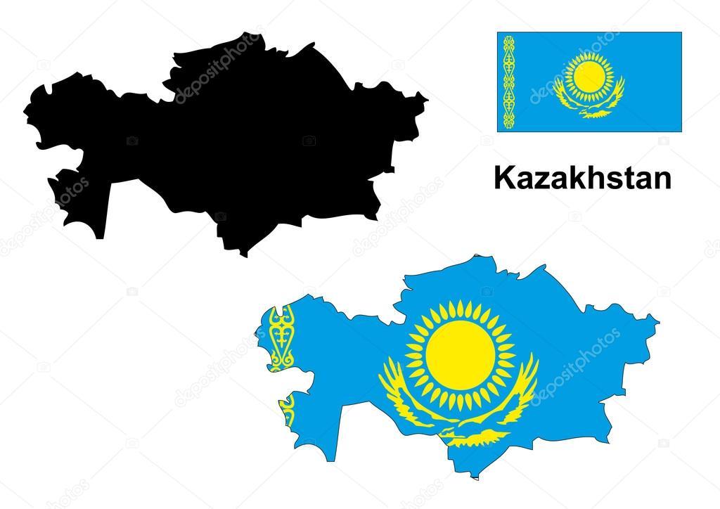 Векторная Карта Казахстана