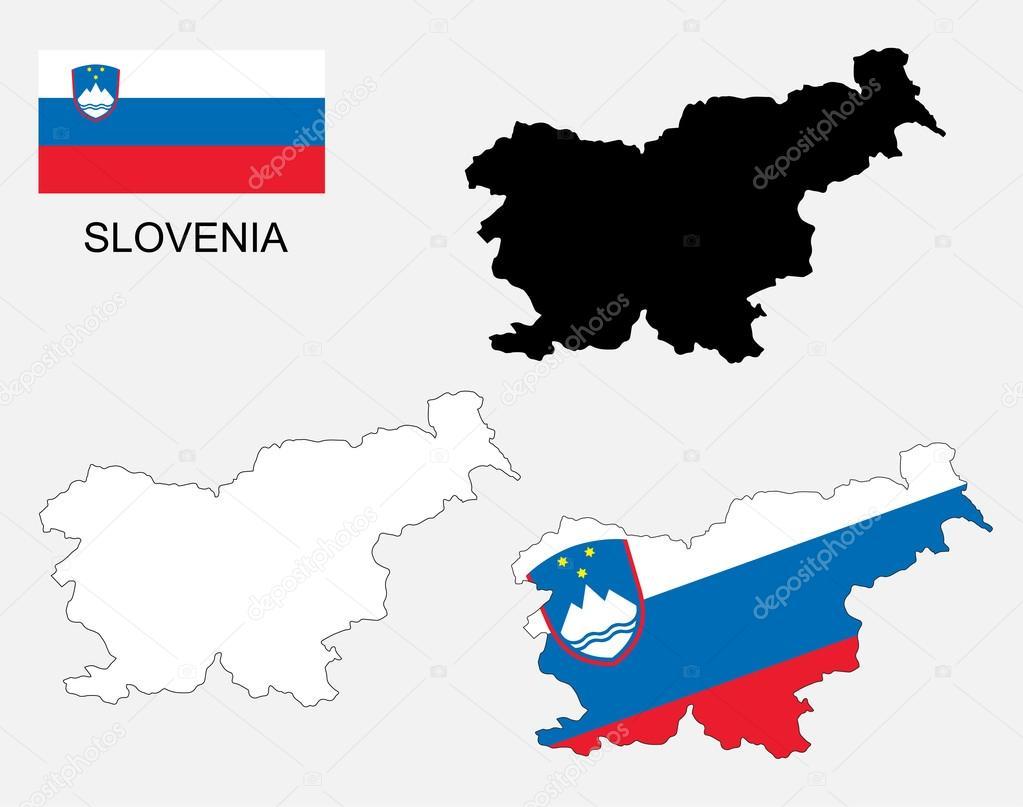 Slovenia Map And Flag Vector Slovenia Map Slovenia Flag Stock - Slovenia map download