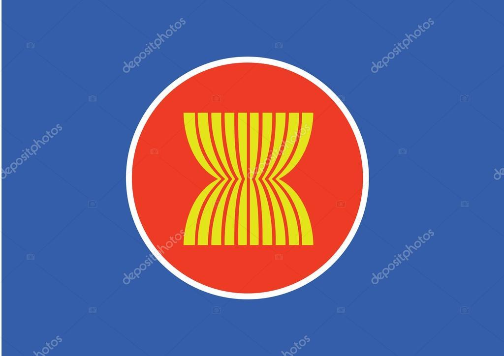 Asean の旗のアイコン、東南アジ...