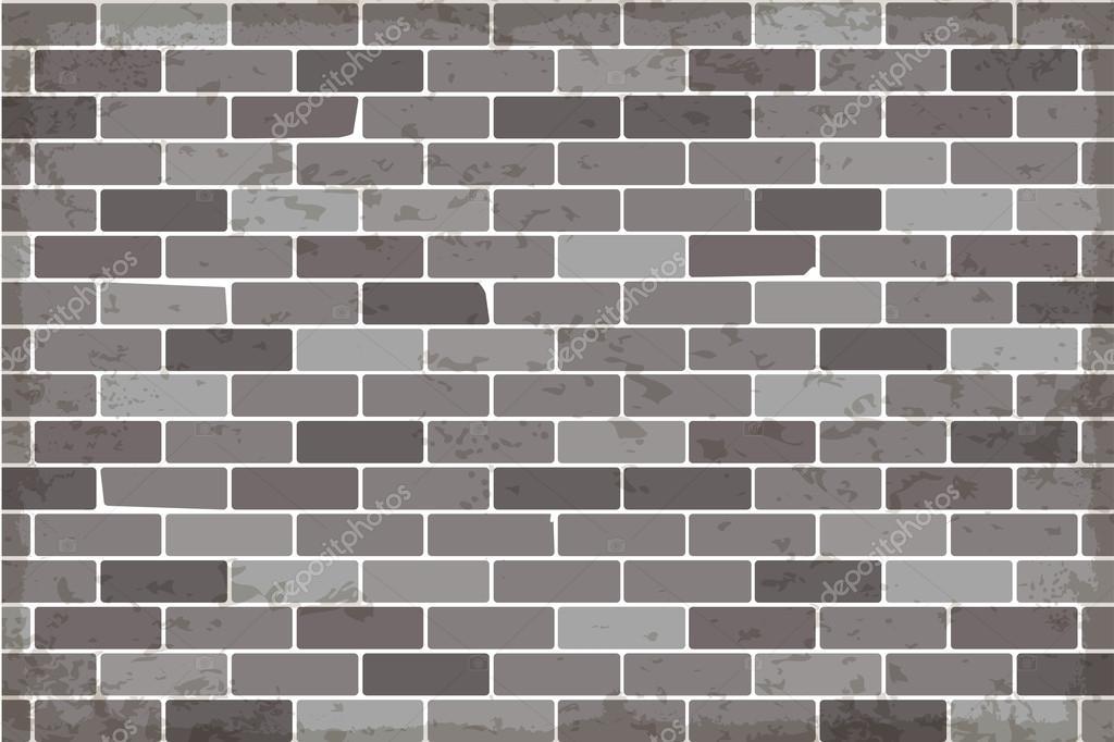 Ladrillos de pared vector, pared de ladrillos grises, vector de ...