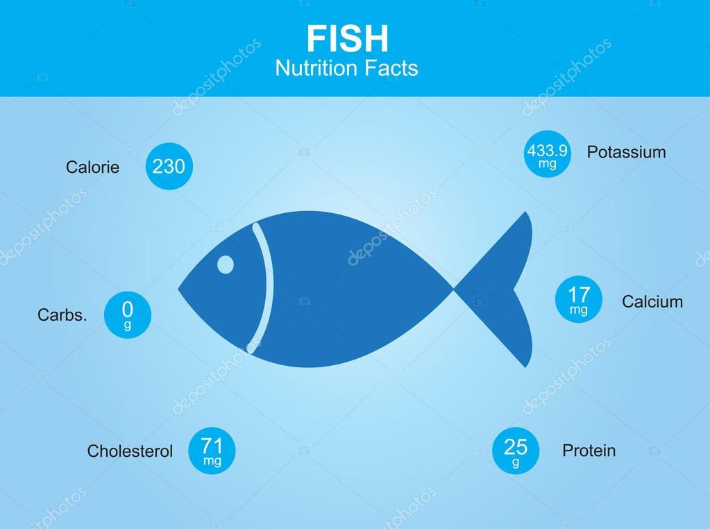 fish nutrition facts, fish with information, fish vector