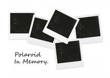 Polaroid frame photo isolated on white. Polaroid photo isolated