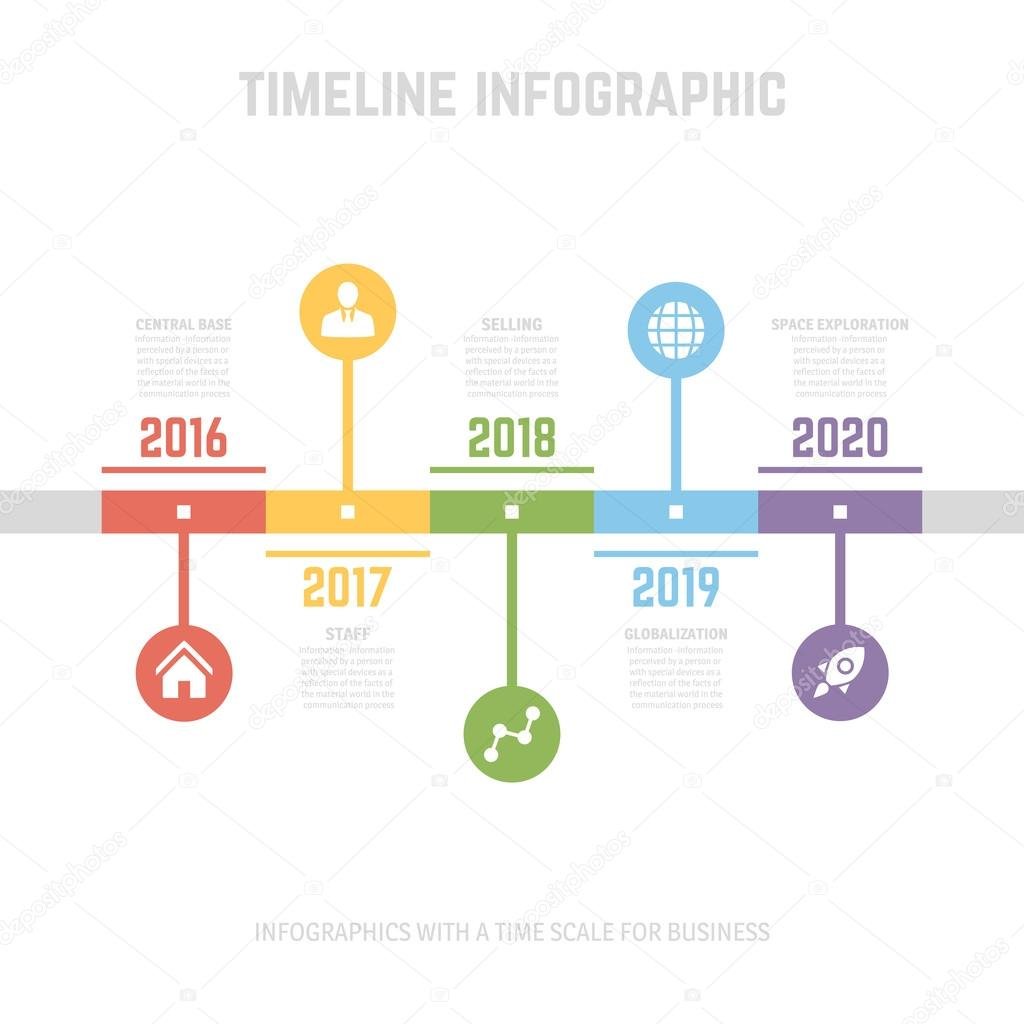 Timeline Infographic design templates. — Stock Vector ...