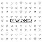 Fotografie Diamanten, eine große Menge verschiedener Versionen