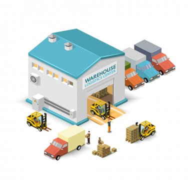 Warehouse vector illustration .