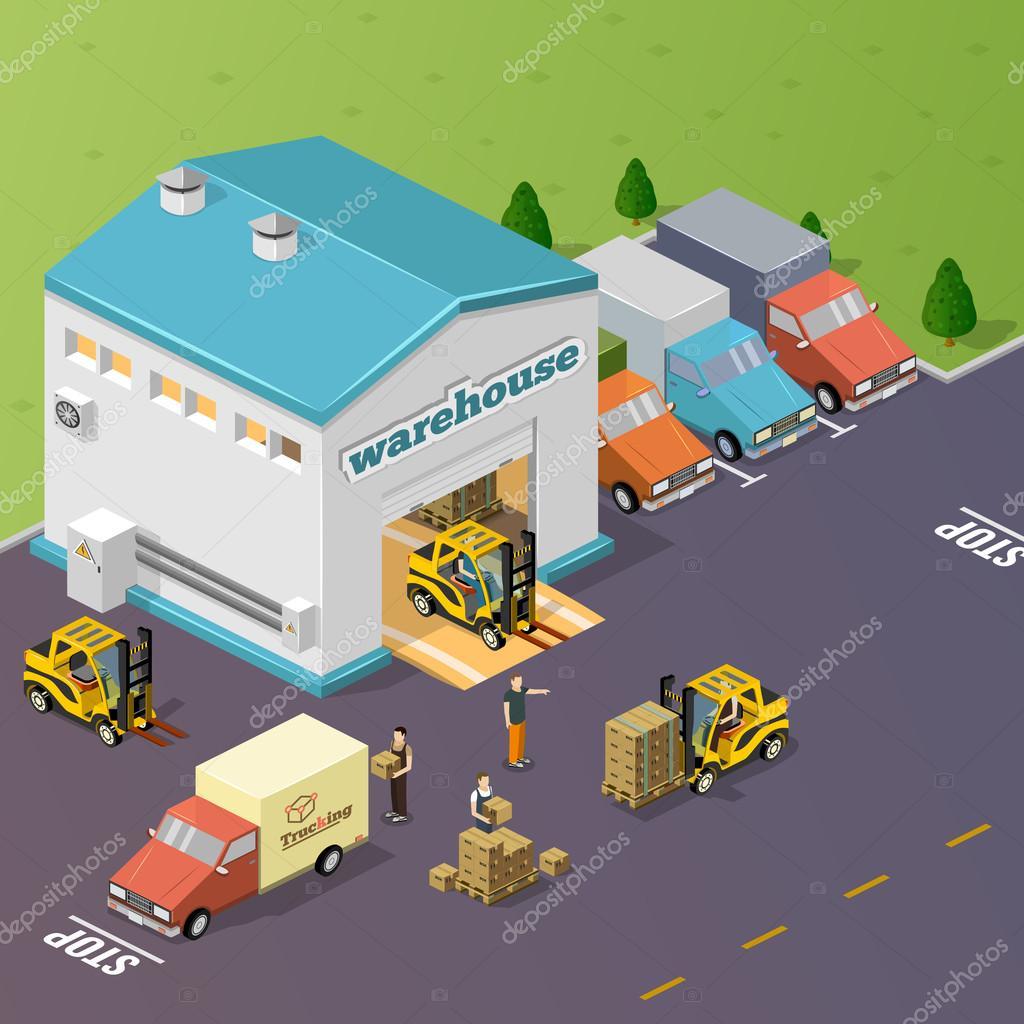 Warehouse vector illustration.