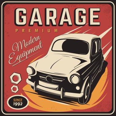 Vintage poster, auto repair.