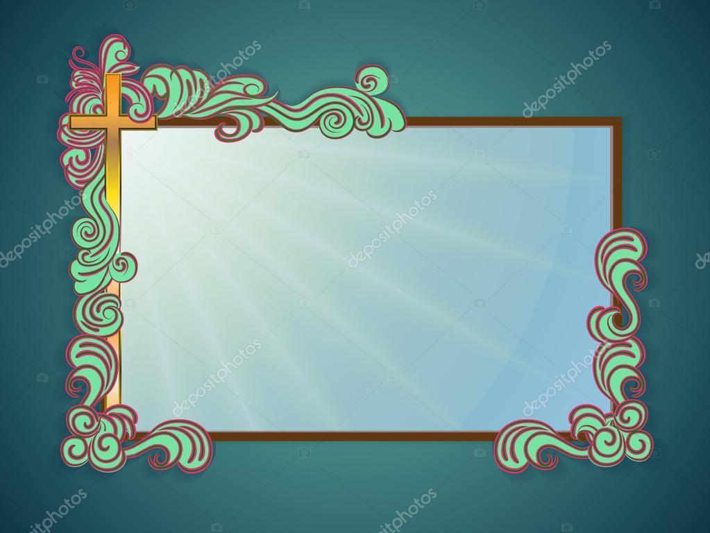 Texto religioso de marco — Archivo Imágenes Vectoriales © irk_lig ...
