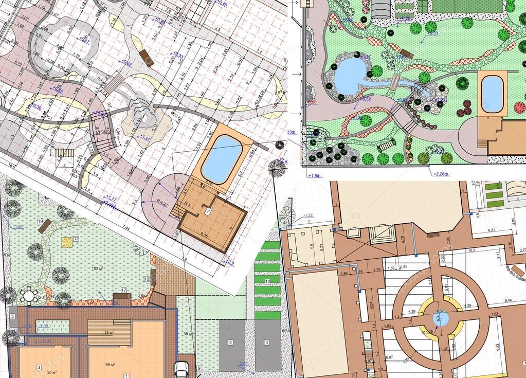 Plan Of Garden Land U2014 Stock Photo #97620422