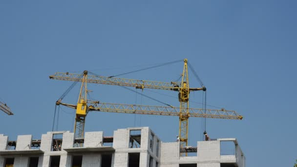 Cranes movement. Building