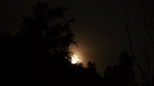 Moon Rising nad stromy