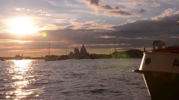 Gyönyörű naplemente a San Marco bay. Velence. Olaszország
