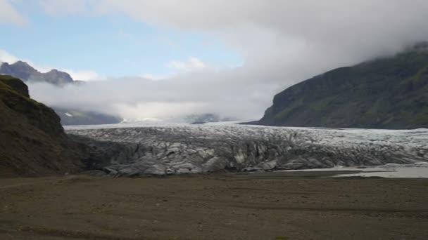 Ledovec Islandu Skaftafell.