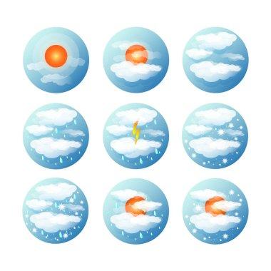Daytime weather icons set icon