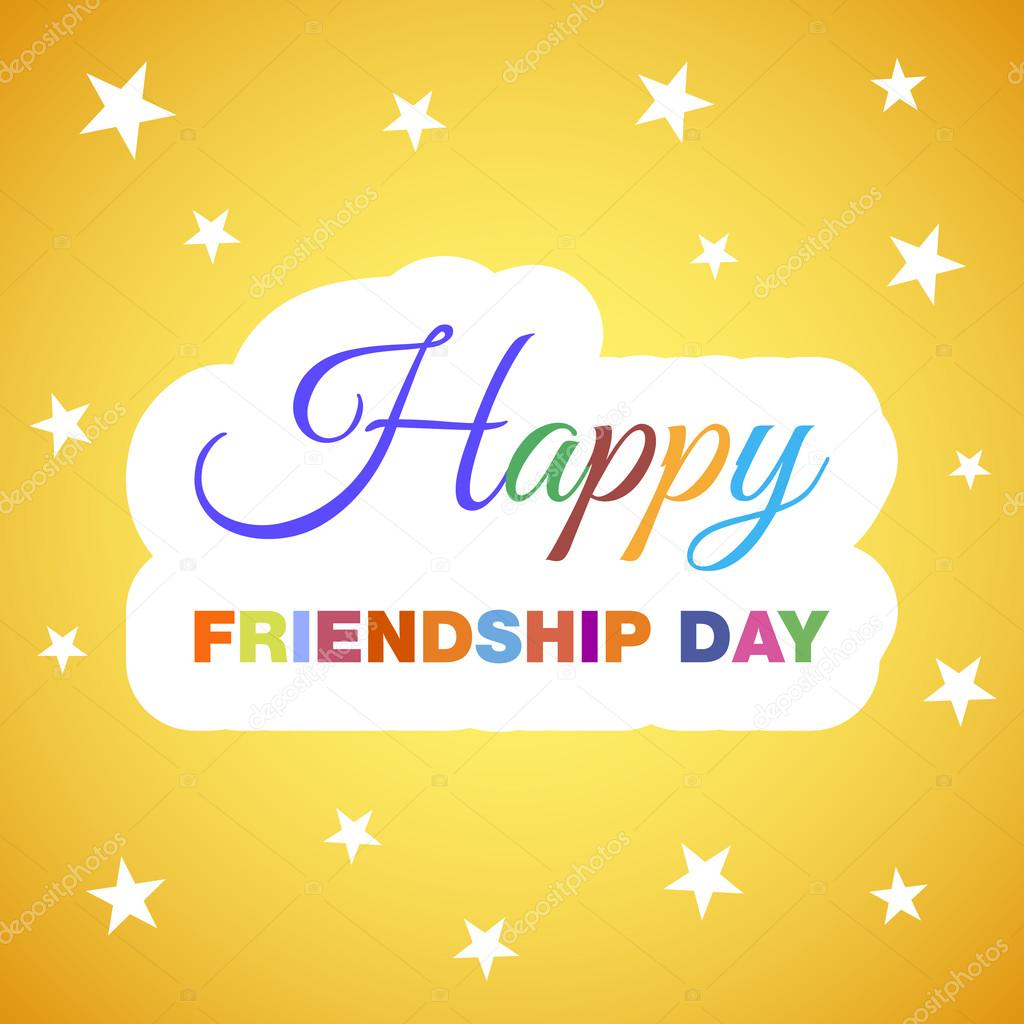 Happy Friendship Day Greeting Card Background Stock Vector