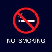Illustration with no smoking icon