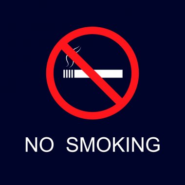 Illustration with no smoking icon