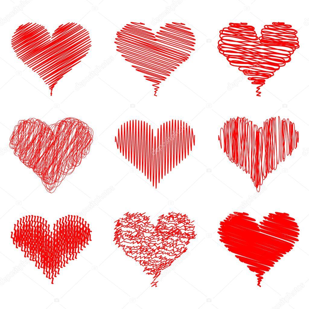 Ilustração Com Mão Desenho Coração