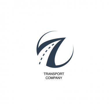 Illustration with transport company logo