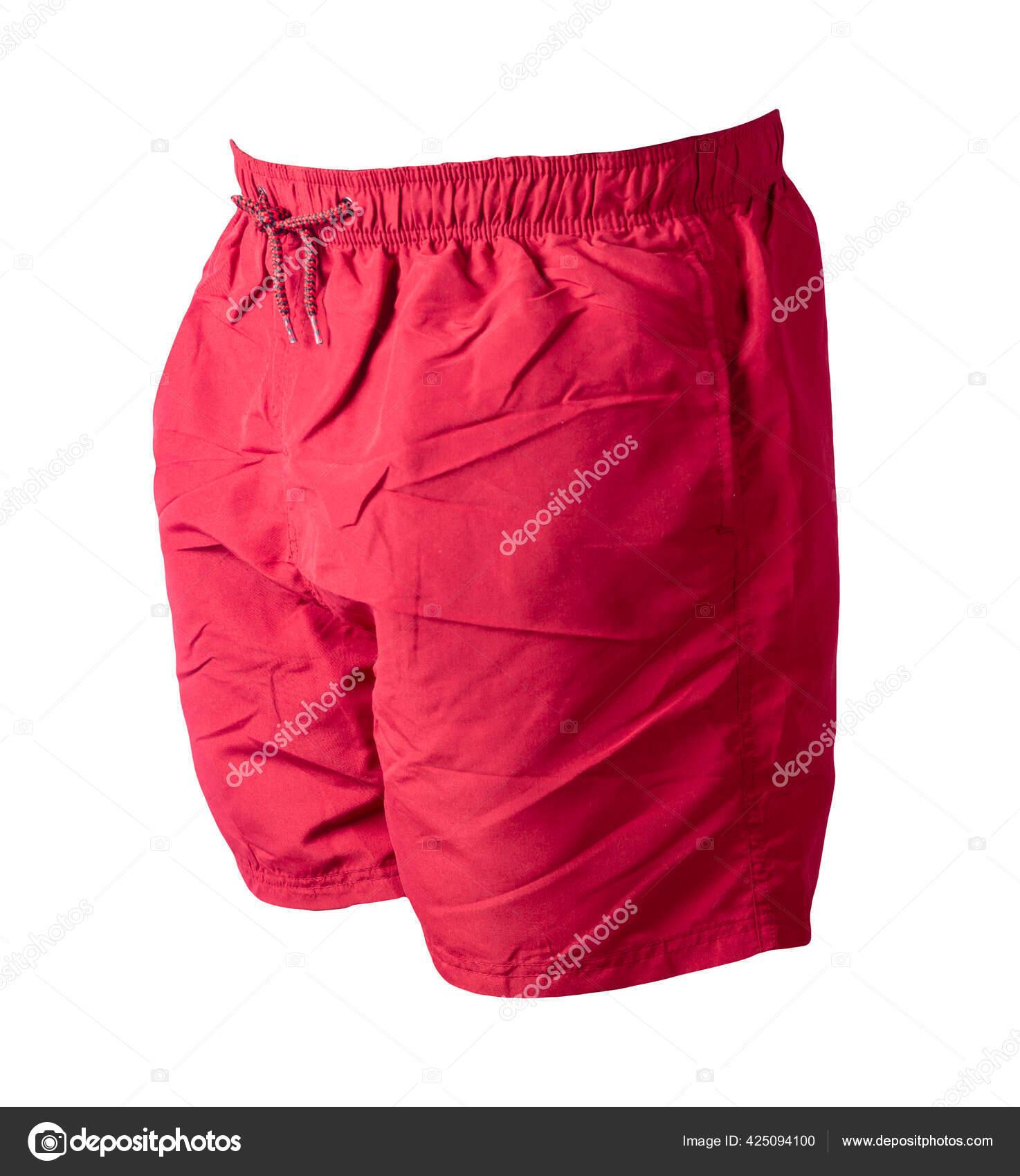 Fotos De Pantalones Cortos Rojos Los Hombres Aislados Sobre Fondo Blanco Pantalones Imagen De C Vitalily73 425094100