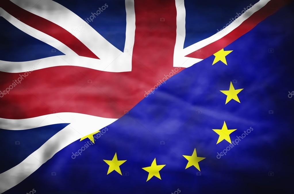 Gran Bretaña y la Unión Europea bandera mixta — Fotos de Stock ...