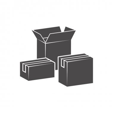 Cardboard boxes for delivery icon in flat style.Vector illustration. icon