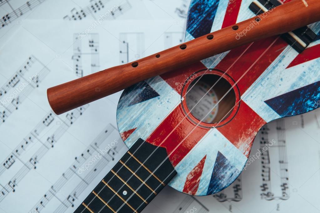 Recorder and ukulele