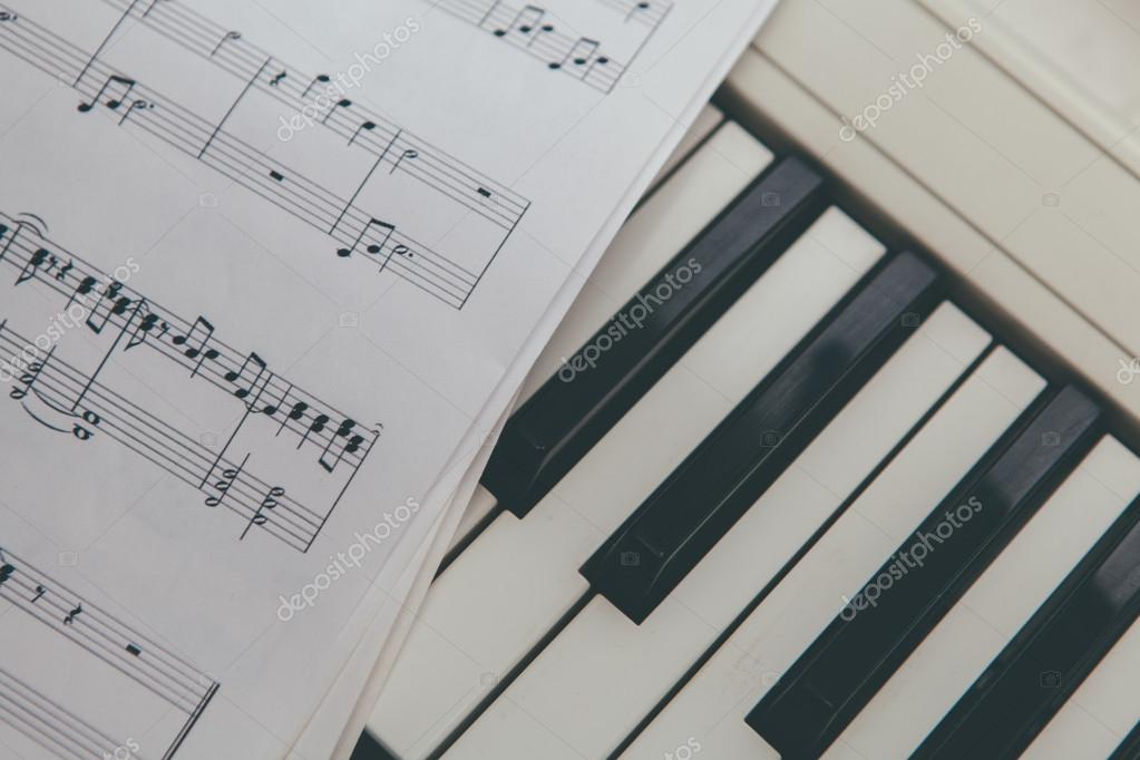 Music Notes And Piano Keys Stock Photo Mimiau 70421841