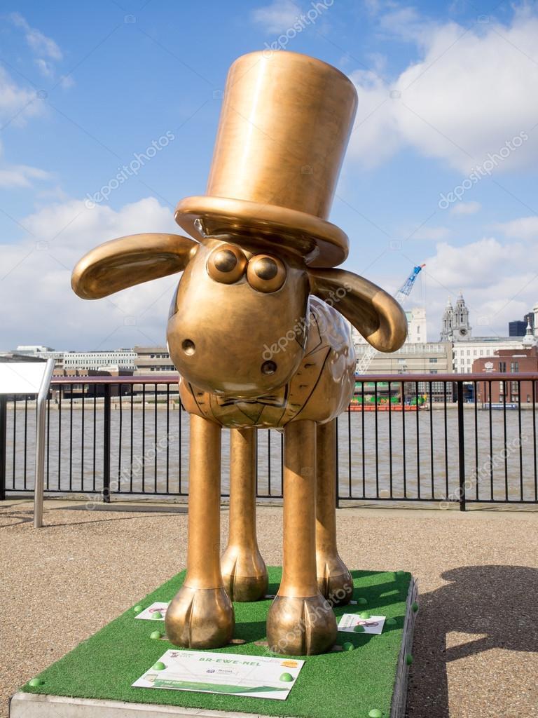 Aardmens Shaun The Sheep Characters On Display Around London Stock Photo