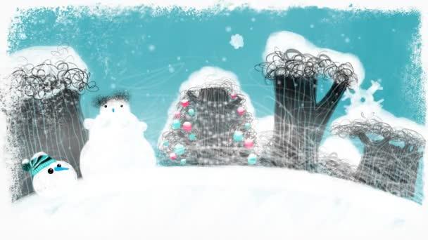 Zasněžené Vánoce Les