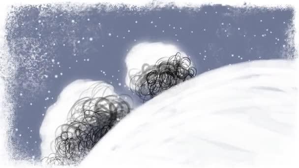 Otáčení zdobené vánoční země