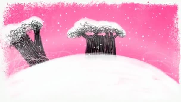 Esztergálás díszített karácsonyi föld rózsaszín háttér