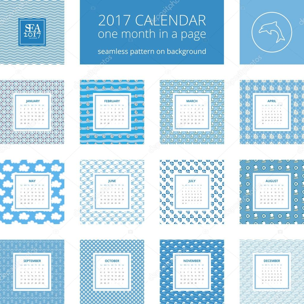 New Year Calendar Template Stock Vector Pinanatreeangle 123259018