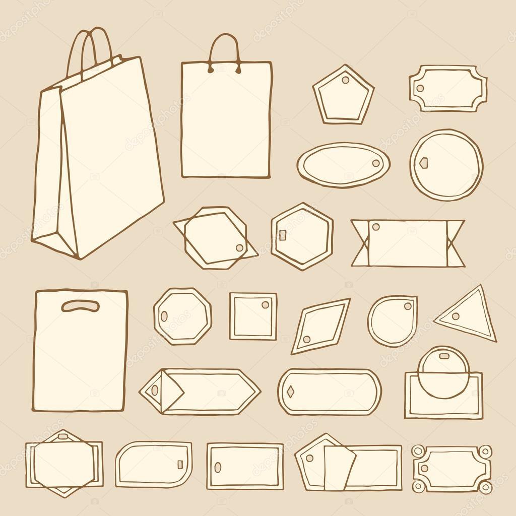 etiquetas, cintas, marcos-02 — Archivo Imágenes Vectoriales ...