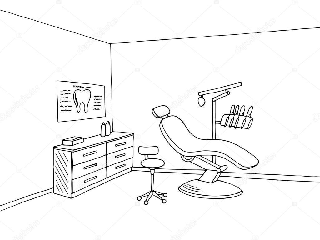 Dentist Clip Art Black And White